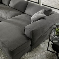 Grey Fabric Corner Sofa Bed Charcoal What Color Walls - Modern Italian